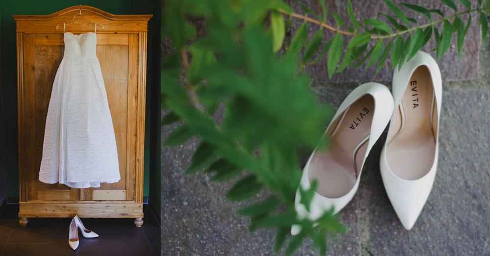 Hochzeitskleid Hochzeitsschuhe